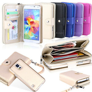 online store 01340 da629 All in One Zip Purse Wallet Leather Case For Samsung Galaxy S9 S10 ...