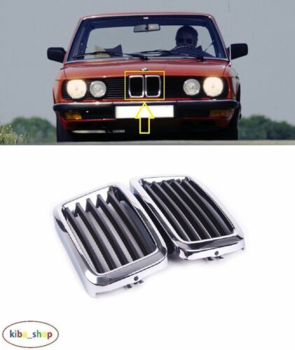 51131873253 BMW 5 E28 1981-1987 NEW FRONT RADIATOR GRILL GRILLE CHROME BLACK