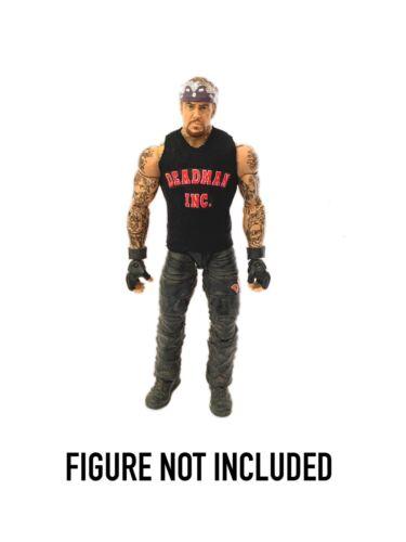 "WWE WWF servicios funerarios /""Deadman Inc /'Personalizado Camisa Para WWE Mattel Elite figuras.."