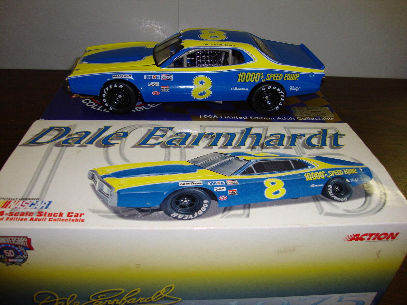 Dale Earnhardt ---   8 tr min --- 1975 Dodge --- Platinum Series --- 1 24 échelle moulé sous pression - 1998  prix de gros
