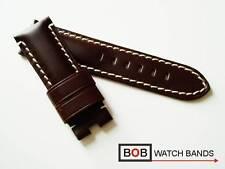 - Bob echtlederfaltschließenband 24 mm compatible con Panerai-faltschließe marrón