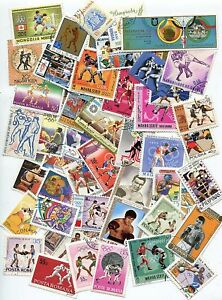LOT-DE-50-TIMBRES-DIFFERENTS-THEMES-BOXE