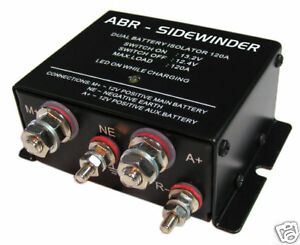 DUAL-BATTERY-ISOLATOR-VSR-ABR-SIDEWINDER-DBi120-2015-Stock-Clearance