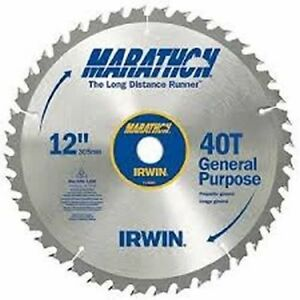 New irwin tools 14080 12 inch 40 teeth 1 inch arbor miter for 12 table saw blades