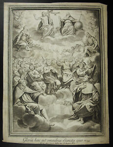 Antique-Print-Psalm-149-Cantate-Domino-Hallel-Praise-Israel-IN-His-Her-God-18th