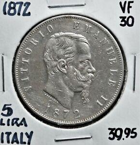 1872-Italy-5-Lire-VF-30