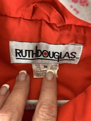 Block Color Ski Loud Vintage Kvinder Jacket Retro Puffer Red 90s M vaxx1pwqnz
