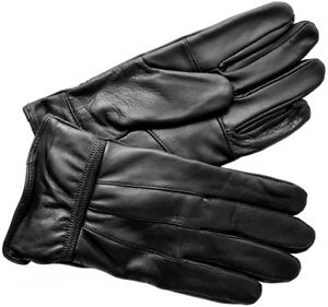 Mens-Sheep-Nappa-Black-Real-Leather-Gloves-By-Lorenz-M-New-amp-Sealed