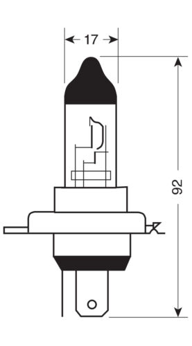 D//BLISTER LAMPA P43T 1 PCS 12V HALOGEN LAMP - - 130//90W H4