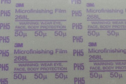 "5-Pk 3M 268L PSA 8.5/""x11/"" 50 Micron Microfinishing Film Sheet"