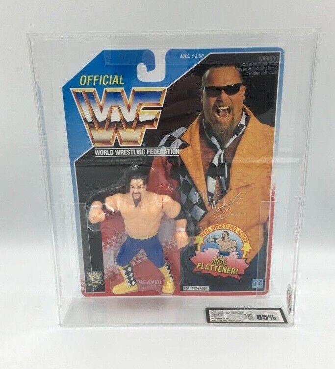 Vintage WWF Hasbro Jim  el Anvil  Neidhart, serie 5, 1993 cardada figura-UKG