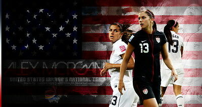 "016 Alex Morgan - American Soccer Football Star 26""x14"" Poster"