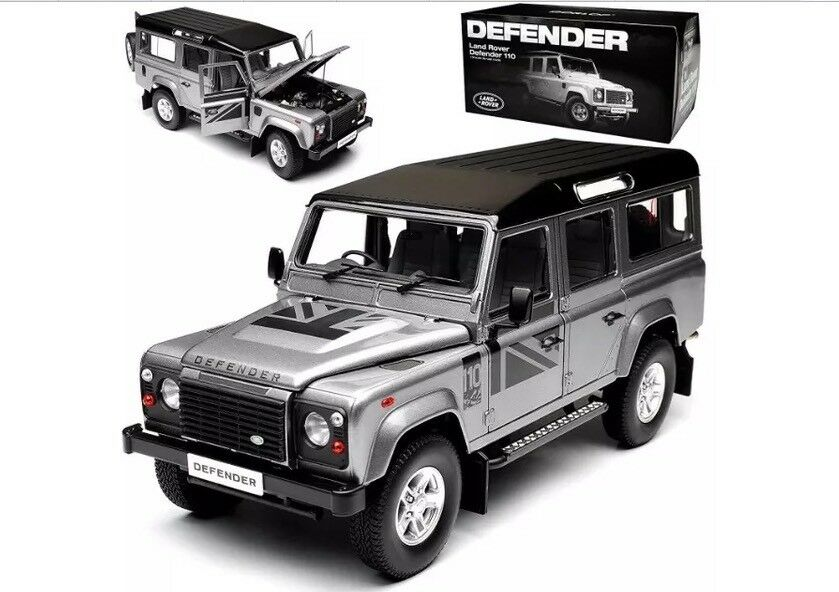 1 18 Land Rover Defender 110 Dorlop Lwb Silbergrau Rhd Detaillierte