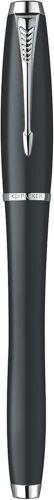 Parker Fountain Pen Urban London Cab Black Ink Chrome Trim Medium Nib Gift Boxed