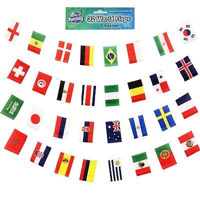 15 Flag 6m Long Football Bunting