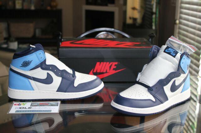 Nike 575441 140 Air Jordan 1 Retro High Og Gs Size 7y Kids Shoes