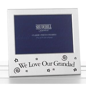 We-Love-Our-Grandad-Photo-Frame-Silver-Satin-Birthday-Fathers-Day-Gift-Present