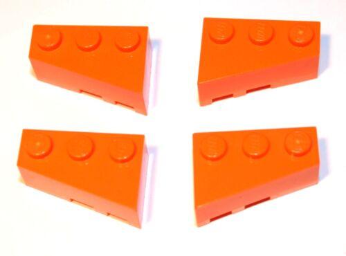 6564+6565 NUOVO ARANCIONE 2 a sinistra, 2 a destra 4x LEGO ® obliquo-Stein Wedge ala 2x3