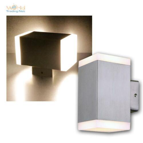 LED Außen-Wand-Leuchte CEDROS Edelstahl gebürstet 1//2-flammig warmweiß 230V IP44