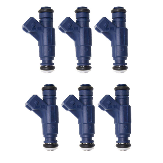 Set of 6 Bosch 0280156109 Fuel Injector 00-05 Mercedes-Benz E320 C320 C240  CLK32