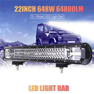 Led Light Bar For Trucks >> Details About 22 Inch 648w Led Work Light Bar Flood Spot Combo Driving Lamp Car Truck Offroad