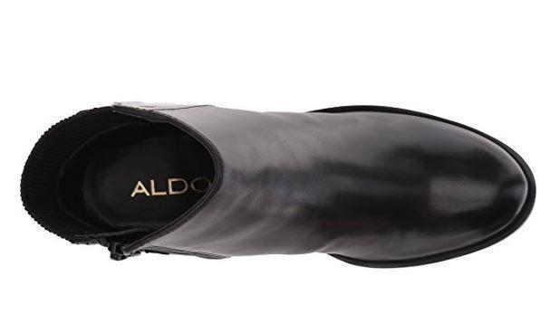 Aldo Bota al tobillo rosadodoldee para mujer, de cuero cuero cuero negro, nos 9 B d5539c