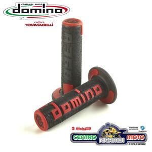 Domino Manopole Off-Road Nero//Rosso