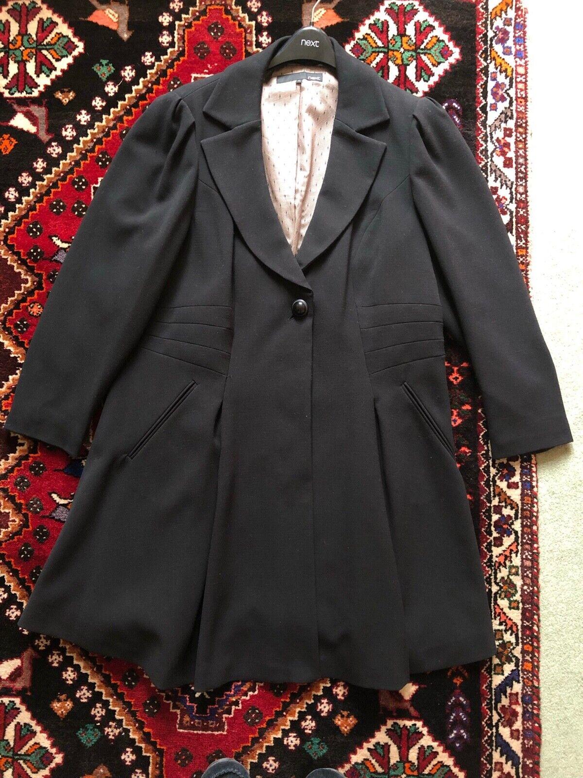 Next stylish winter coat black size 26