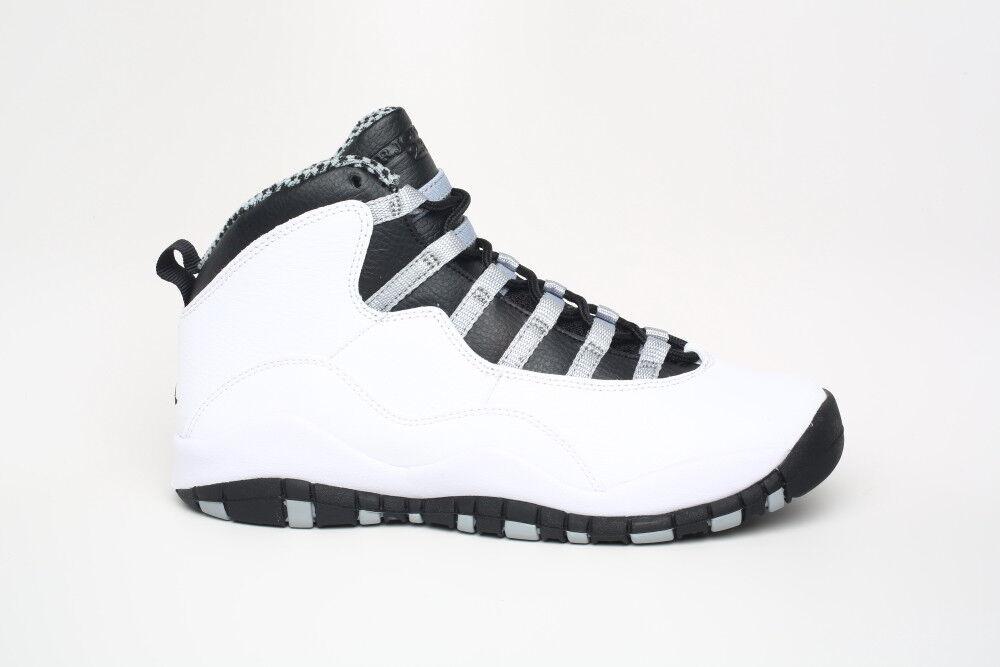 Nike Air Jordan 10 Steel White 310806 103 Air Max BG GS sz 6.5