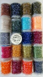 20-SPOOL-of-SEMPERFLI-034-MICRO-CHENILLE-034-assorted-colors-amp-size-FLY-TYING