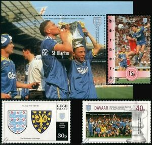 WIMBLEDON-AFC-FA-CUP-Winners-1987-1988-Football-Stamps-Vinnie-Jones-Sanchez