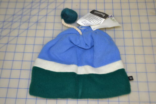 reversible triple decker pom acrylic USA made turtle fur hood cap cold polyester
