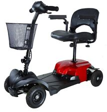 Drive Medical Red Bobcat X4 4 Wheel Compact Transportable Scooter BOBCATX4 NEW