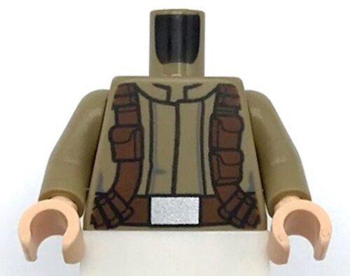 Lego New Torso Star Wars Mandarin Collar Reddish Brown Utility Belts Pattern