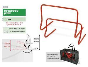 6-Ostacoli-Allenamento-Calcio-SPORTIKA-Regolabili-cm-30-50-Borsa-porta-ostacolo
