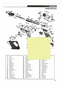 Details about HAMMERLI MODELS 232 AND 280 AUTO PISTOLS EXPLODED VIEW &  PARTS LIST 2011 AD