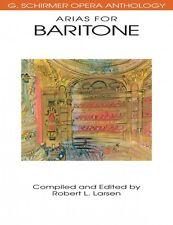 Arias for Baritone : G. Schirmer Opera Anthology (1991, Paperback)