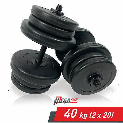 10//20kg Adjustable Dumbbells Set Vinyl Gym Weights Plates Fitness Body Building