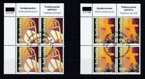 Switzerland-1947-48-Weihnachtsbrauche-Block-of-Four-Set-Oo