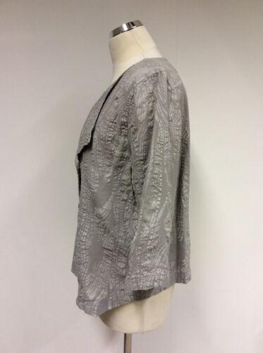 à en et lin coton 2 Reg légère L Oska Uk Veste gris Taille imprimé TxBwAq