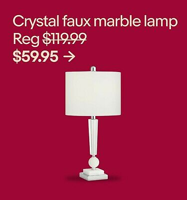 Crystal faux marble lamp