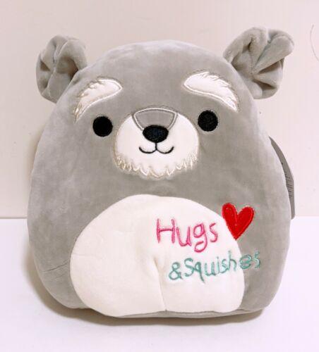 """Kellytoy Squishmallows 2021 Valentine Shaun the Schnauzer Dog 8/"""" Plush Doll"""