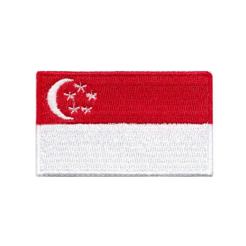 Flag of Singapore Iron On or Sew on Patch 2 1//2 x 1 1//2 Small