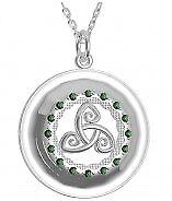 Aus Dem Ausland Importiert Keltischer Tir Na Nog Anhänger Silber 925