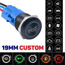 New Listing19mm Black Metal Push Button Switch Momentary Latching For Car Rv Truck Boat Led