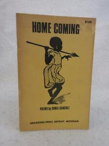 SIGNED-Sonia-Sanchez-HOME-COMING-Poems-1969-Broadside-Press-Detroit-MI