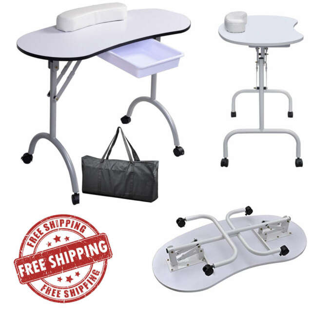 Portable Manicure Spa Table Desk Beauty Nail Salon Equipment Station ...