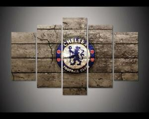 Image Is Loading Large Framed Chelsea Football Club Soccer Canvas Wall