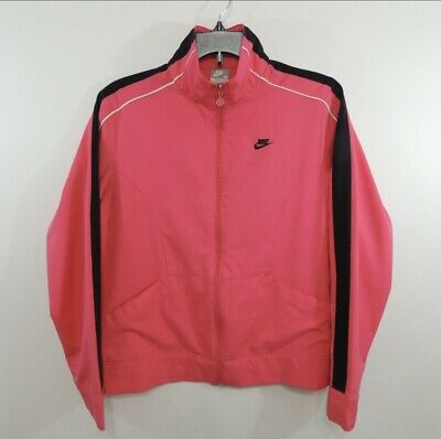 Vintage 90s Nike Womens Athletic Training Running Jacket Full Zip Sz M