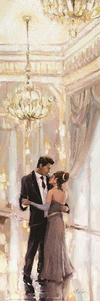 Steve Henderson  Just The Two Of Us Image-Chassis 30x90 Toile Paire Danse